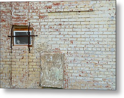 Aged Brick Wall With Character Metal Print by Nikki Marie Smith
