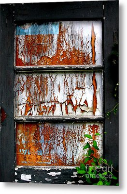 Aged Door Metal Print by Amy Sorrell