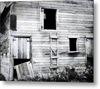 Aging Barn  Metal Print by Julie Hamilton