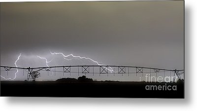 Agricultural Irrigation Lightning Bolts Metal Print by James BO  Insogna