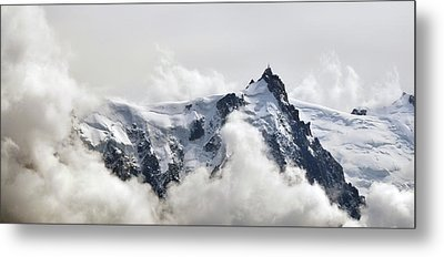 Aiguille Du Midi Out Of Clouds Metal Print by Thomas Pollin