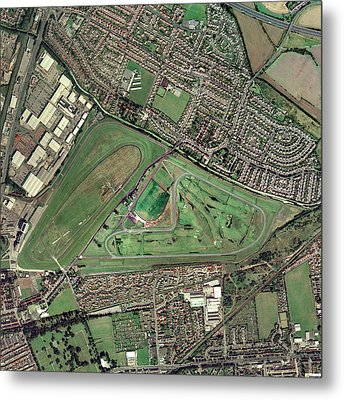 Aintree Horse Racing Track, Aerial Image Metal Print by Getmapping Plc