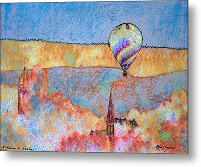 Air Balloon Over Peeebles Metal Print by Richard James Digance