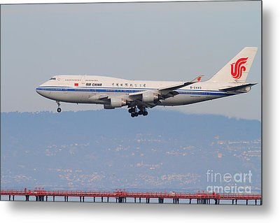 Air China Airlines Jet Airplane At San Francisco International Airport Sfo . 7d12272 Metal Print by Wingsdomain Art and Photography