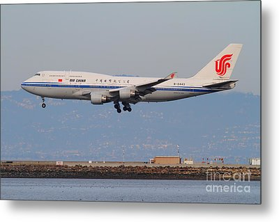Air China Airlines Jet Airplane At San Francisco International Airport Sfo . 7d12273 Metal Print by Wingsdomain Art and Photography