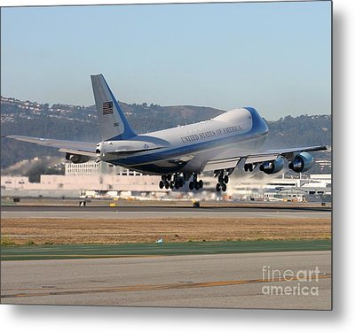 Metal Print featuring the photograph Air Force One by Alex Esguerra