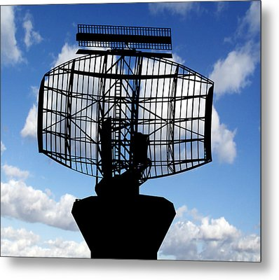 Air Traffic Control Radar Metal Print by Victor De Schwanberg