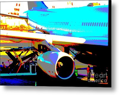 Metal Print featuring the mixed media Aircraft On The Ground by Rogerio Mariani