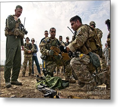 Airmen Explain Their Evidence Gathering Metal Print by Stocktrek Images