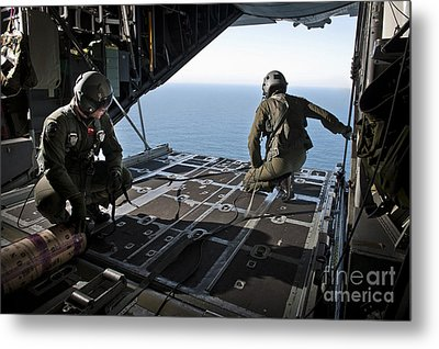 Airmen Wait For The Signal To Deploy Metal Print by Stocktrek Images