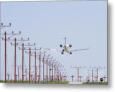 Airplane Landing Metal Print by Jeremy Woodhouse