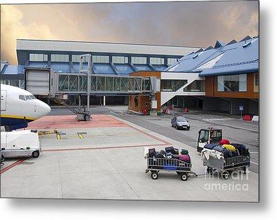 Airport Gate Arrival Metal Print by Jaak Nilson