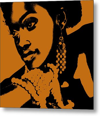 Aisha Metal Print by Naxart Studio