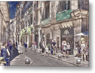 Metal Print featuring the photograph Al Fresco - Girona Spain by Jack Torcello
