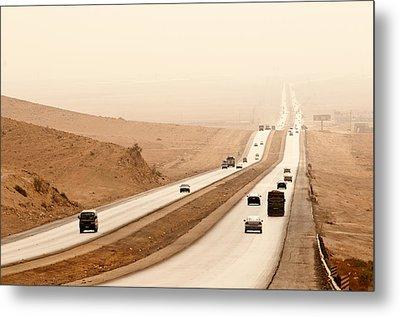 Al Mafraq Desert, Jordan Metal Print by Jim Foley