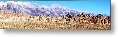 Alabama Hills Panorama Metal Print by Michael Courtney
