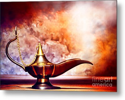Aladdin Lamp Metal Print by Olivier Le Queinec