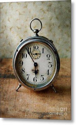 Alarm Clock Metal Print by Jill Battaglia