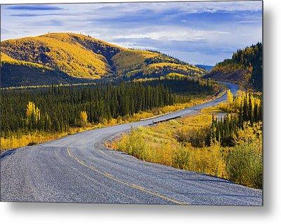 Alaska Highway Near Beaver Creek Metal Print by Yves Marcoux
