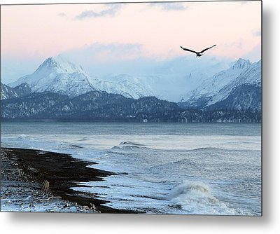 Metal Print featuring the photograph Alaskan Beach At Sunset by Michele Cornelius