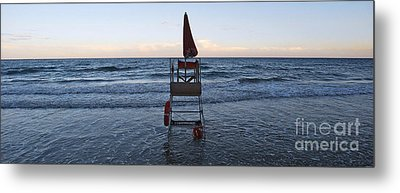 Metal Print featuring the photograph Alassio Sunset Facing East by Andy Prendy