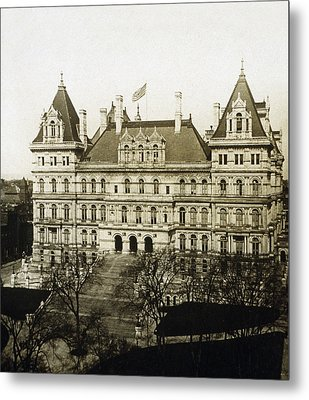 Albany New York - State Capitol Building - C 1900 Metal Print by International  Images