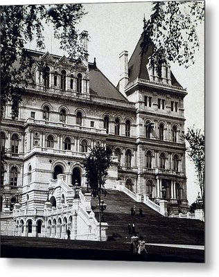 Albany New York - State Capitol Building - C 1903 Metal Print by International  Images