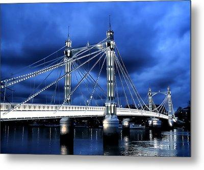 Albert Bridge London Metal Print by Jasna Buncic