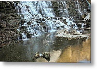 Metal Print featuring the photograph Albion Falls-hamilton-ontario by Nick Mares