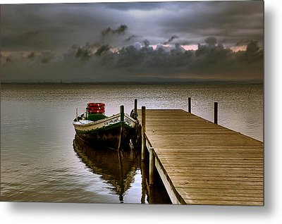 Albufera Before The Rain. Valencia. Spain Metal Print by Juan Carlos Ferro Duque