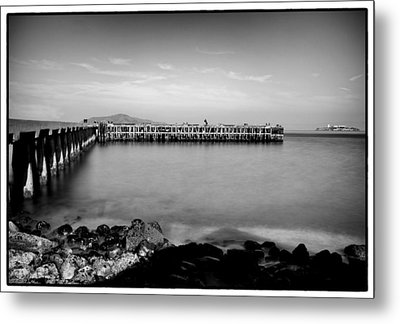 Alcatraz From Fort Point Metal Print by Tanya Harrison