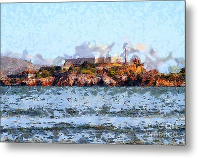 Alcatraz Island In San Francisco California . 7d14031 Metal Print by Wingsdomain Art and Photography