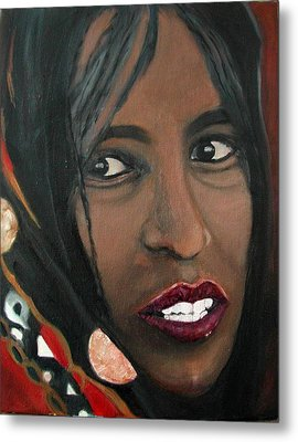 Metal Print featuring the painting Alem E. W. by Anna Ruzsan