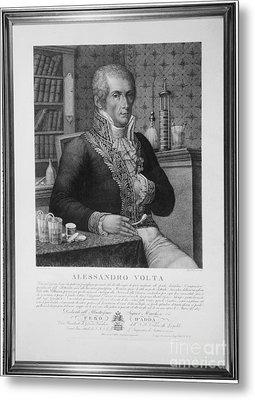 Alessandro Volta, Italian Physicist Metal Print by Omikron