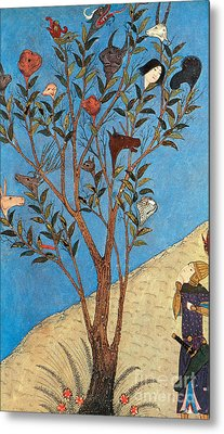 Alexander The Great At The Oracular Tree Metal Print by Photo Researchers