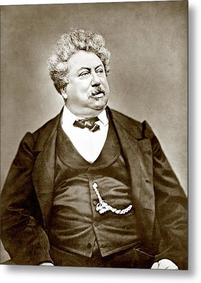 Alexandre Dumas Père 1802-1870 Popular Metal Print by Everett