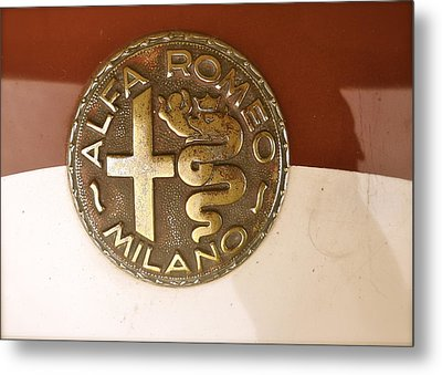 Metal Print featuring the photograph Alfa Romeo Badge by John Colley