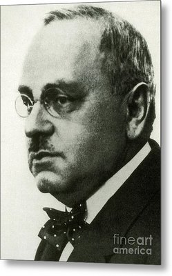 Alfred Adler, Austrian Psychologist Metal Print by Science Source