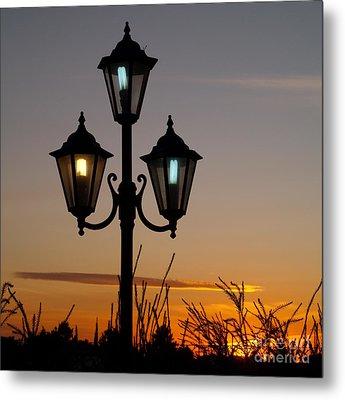 Algarve Lamps Metal Print by Michael Canning