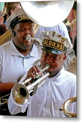 Metal Print featuring the photograph Algiers Jazz Band by Jeanne  Woods