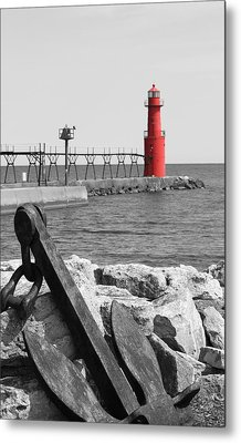 Algoma Lighthouse Is Anchored Metal Print