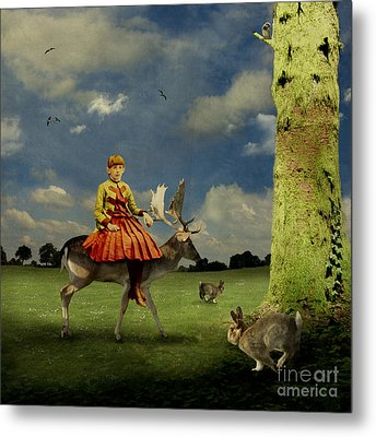 Alice Metal Print by Martine Roch