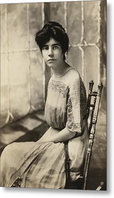 Alice Paul 1885-1977, Protested Metal Print by Everett