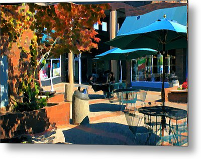 Metal Print featuring the mixed media Alice's Wonderland Cafe by Terence Morrissey