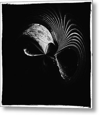 Alien Mask Metal Print by Skip Nall