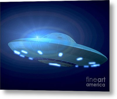 Alien Spacecraft Metal Print by Gregory MacNicol and Photo Researchers