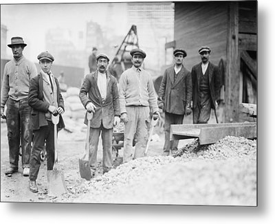 Alien Subway Workers With Shovels Metal Print by Everett