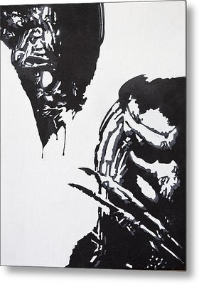 Alien Vs Preditor Metal Print by Stephen Ford