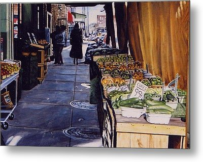 Alioto's Produce Metal Print by James Guentner