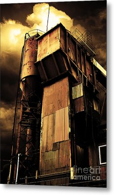 Alive And Well In America . The Old Concrete Plant In Berkeley California . Golden . 7d13967 Metal Print by Wingsdomain Art and Photography